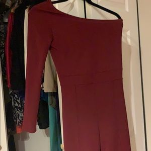Fashion Nova maroon jumpsuit